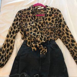 Nasty Gal Leopard top